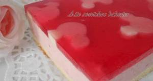 Puding Strawberry Cheesecake