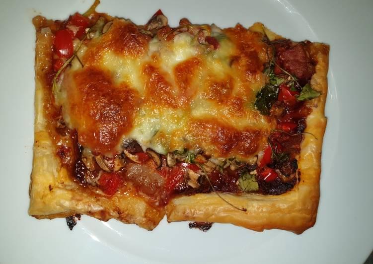 Panchetta and Vegetable Tart