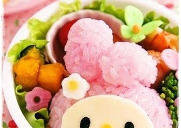 Easy! My Melody Onigiri For Charaben (Decorative Bentos)