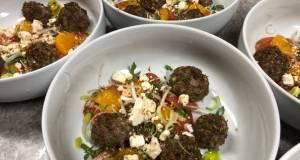 Mini Meatballs w/ Mandarin Orange Garlic Tomatoes