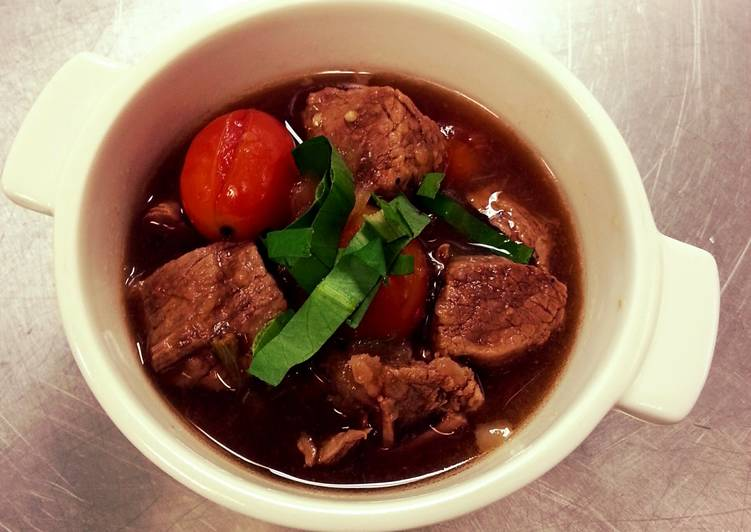 Spicy beef soup (Thai style)
