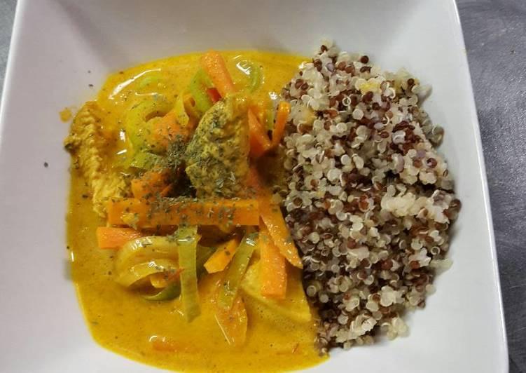 Chicken curry with quinoa (gluten free)