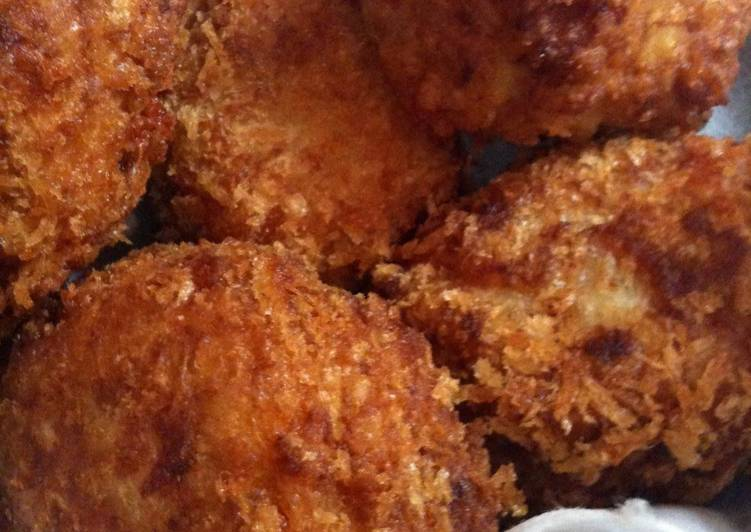 Creamy and Starchy Taro Root Croquettes with Ham and Cheese