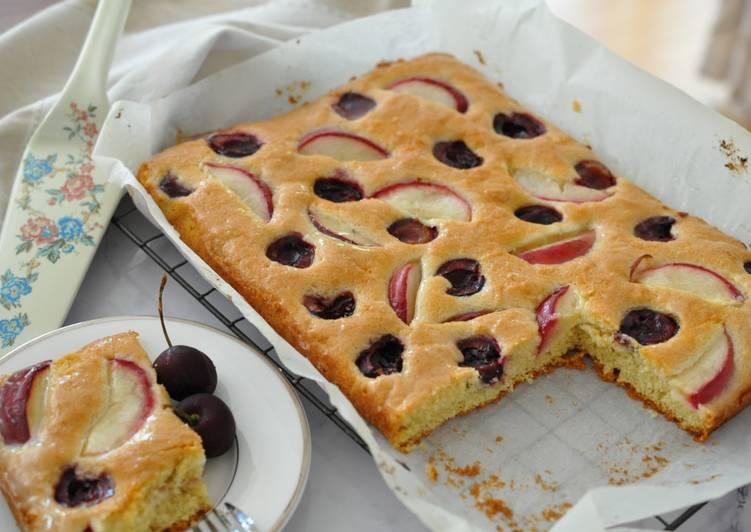 Get foodie with Sally 發表的 櫻桃玫瑰果蛋糕佐接骨木花糖漿 食譜 - Cookpad