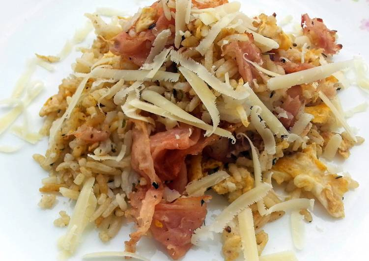 Ham And Egg With Cheese  Fried Rice