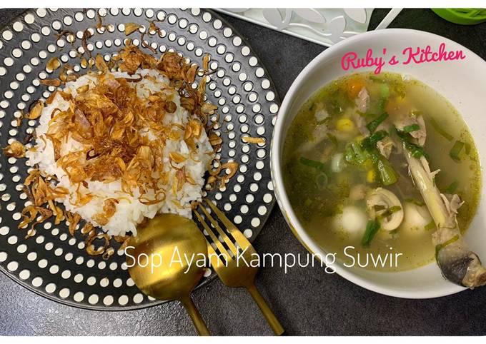 Sop Ayam Kampung Suwir