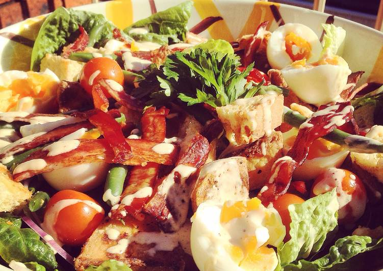 Egg, Bacon & Crispy Potato Salad with Home Made Mayo
