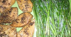 Stupid Easy (Healthy) Crock Pot Chicken & Asparagus