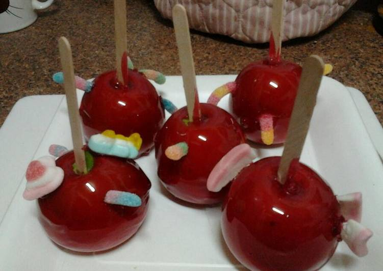 Ladybirds Halloween or Plain Toffee Apples