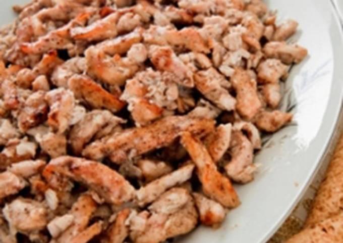 Marinated and baked chicken strips - shawarma djej