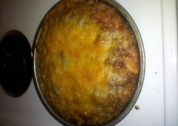 Quick and easy pizza casserole