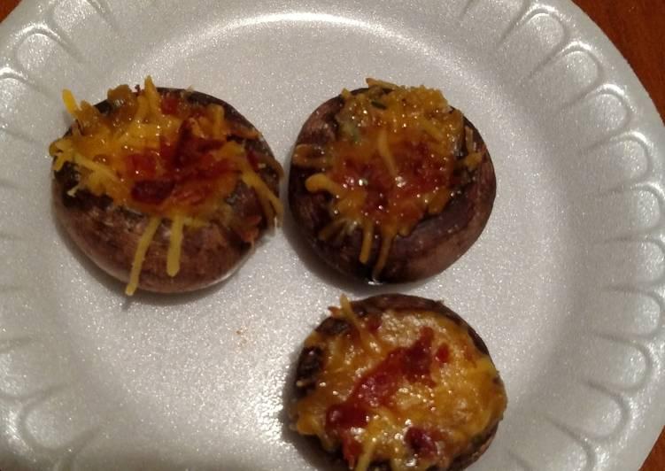 Cheese, Bacon, Ranch Stuffed Mushrooms