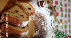 Stollen Christmas Wreath - Made in a Bread Machine