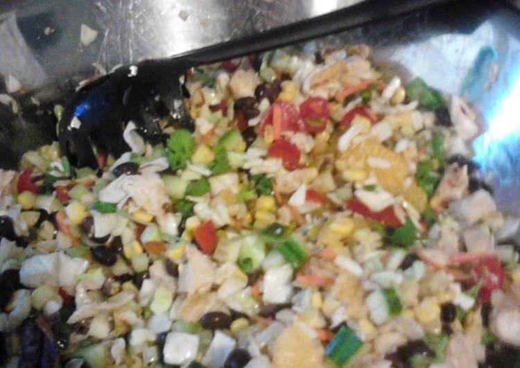 Everything but the kitchen sink chopped salad