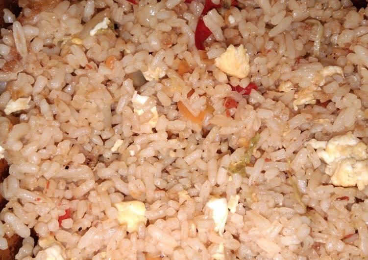 Nasi Goreng Spesial Pedas campuran sayur