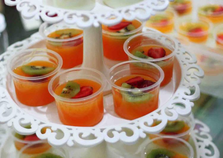 Puding susu mangga / orange nutrijell