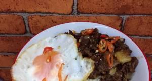 Black Pepper Beef Rice Bowl