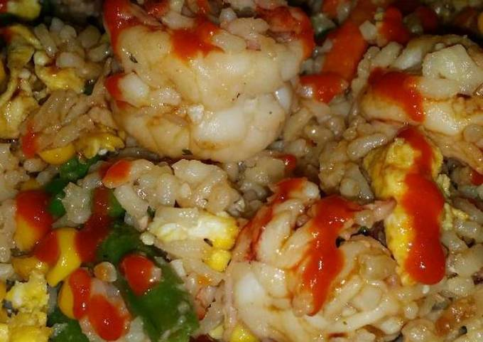 Brad's prawn fried rice