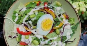 Green Salad with Yogurt and Honey Dressing (Healthy Recipes)