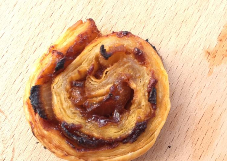 Onion Sambal Puff Pastry Pinwheels