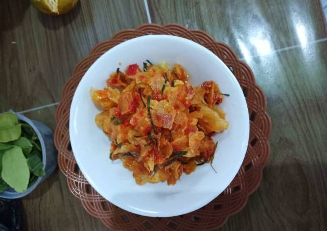 Kentang mustofa (kering kentang pedas manis)