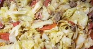 Stewed Tomatoes, Cabbage & Ground Beef