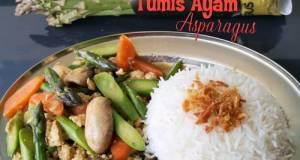 Tumis Ayam Asparagus Simple