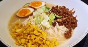 Quick Pork and Butter Corn Miso Ramen