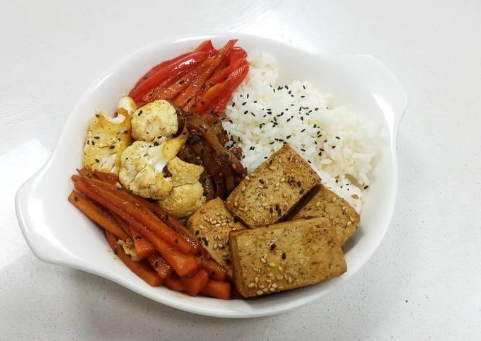 Vegan Chinese Style Tofu and Vegg Bowl