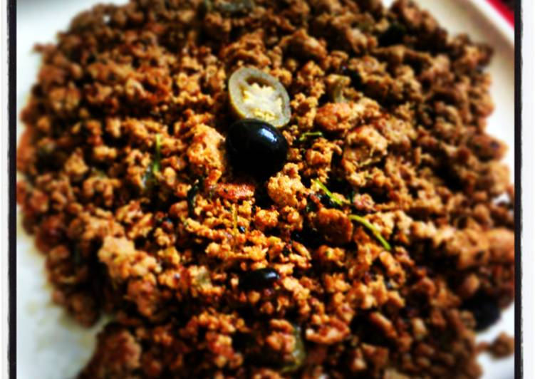Minty Spicy Kheema (ground beef )