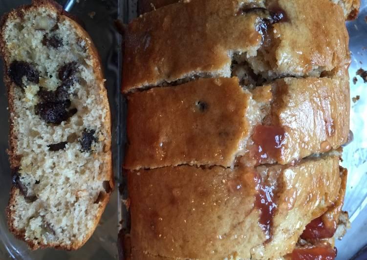 Glazed walnut raisin Cake