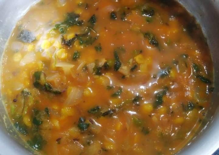 Split chick pea chana dal curry