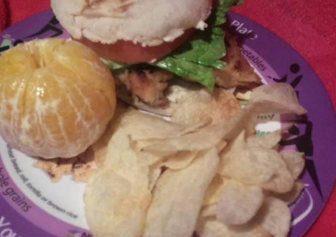 Southern pan-fried chicken sandwich