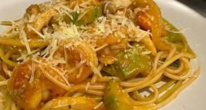 Zucchini Shrimp Pasta With Tomato Sauce