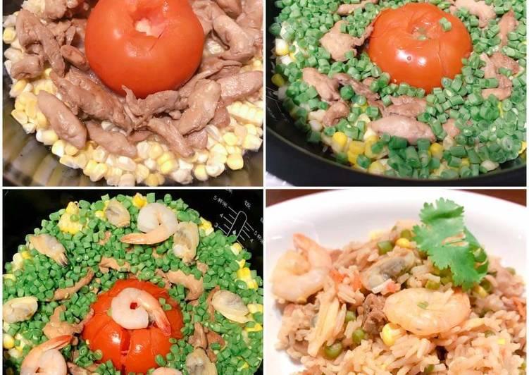 一鍋式番茄飯 ONE POT TOMATO RICE (NO FRYING)