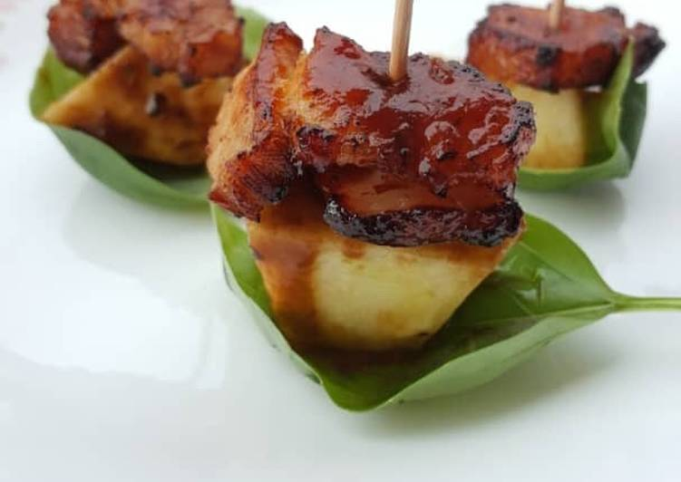 Deep Fried Pork Belly With BBQ Sauce