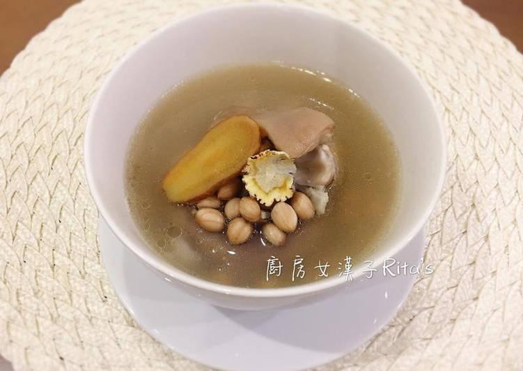 廚房女漢子-Ritas 發表的 花生燉豬腳湯 食譜 - Cookpad