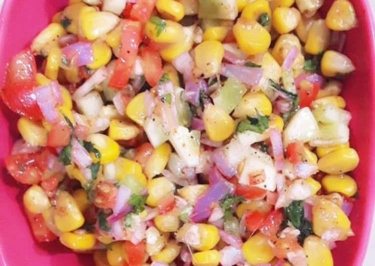 Corn mint salad