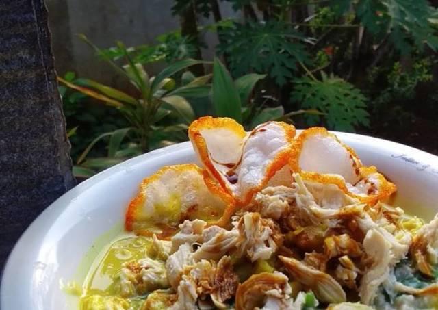 Bubur Ayam Bayam Oat. Rendah Kalori, Rendah Lemak, Tinggi Serat