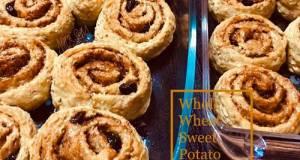 Whole Wheat Sweet Potato Cinnamon Rolls (No Butter   No Mixer)