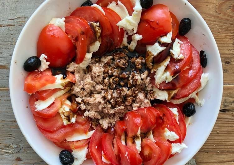 Salade tomate mozzarella et thon