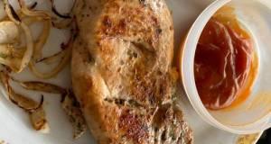 Dada ayam panggang simple