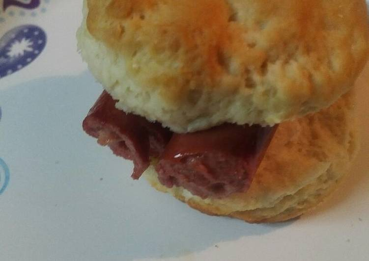 Hotdogs on a Biscuit