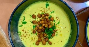 Golden Soup (Turmeric And Cauliflower Soup With Crispy Chickpeas)