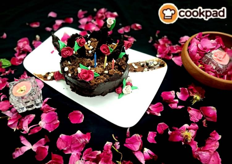 Chocolate flower pot