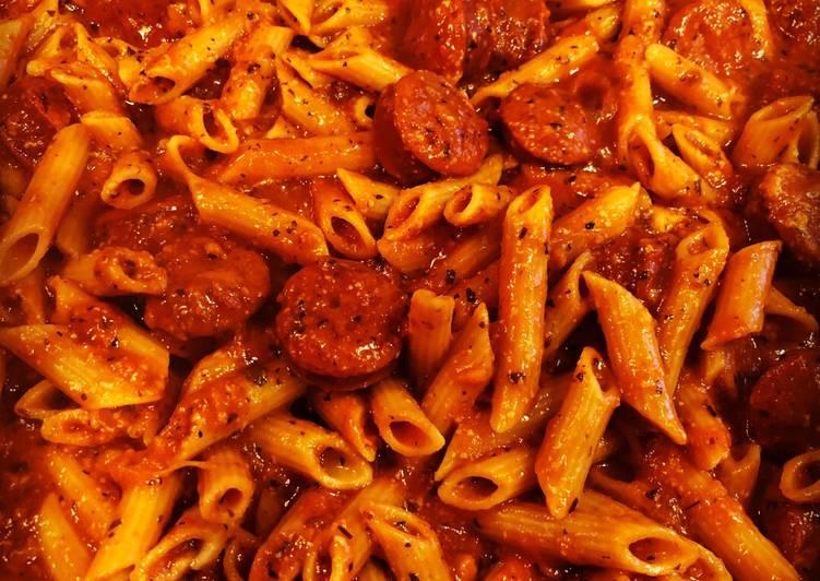 Garlic Parmesan Sausage Pasta