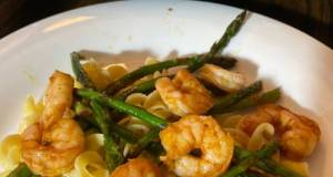 Buttery Boiled Shrimp And Asparagus