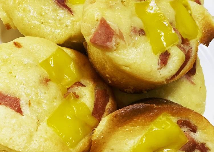 Ham and Cheese Pancake Muffin