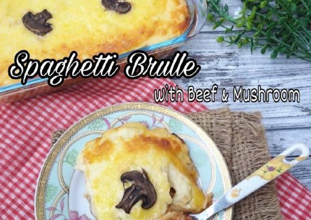 Spaghetti Brulle with Beef & Mushroom