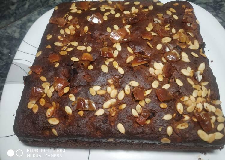 Oats jaggery cake